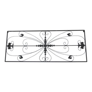 Metal Grille Fleur De Lis Ornamental Panel