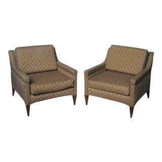 Mid-Century Modern Dunbar Club Chairs - A Pair