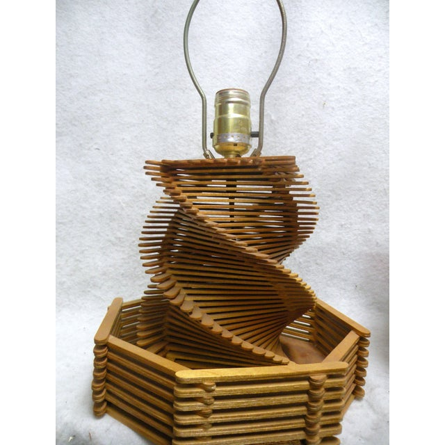 1960's Folk Art Lamp - Image 4 of 6