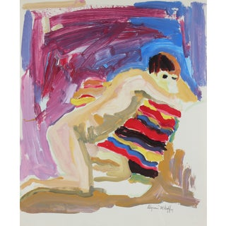 Reclining Figure Painting Circa 1950s