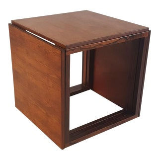 Danish Modern Rosewood Cube Nesting Tables - Set of 3