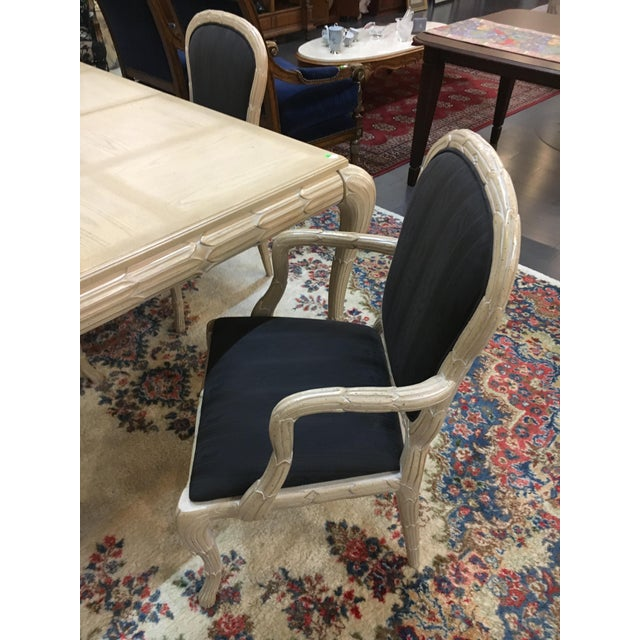 Washed Wood Dining Table & Chairs - Set of 7 - Image 5 of 7