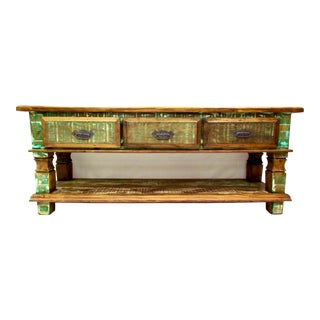 Vintage Antique Beautiful Console Table - Eco-Friendly Reclaimed Solid Wood