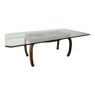 Thomasville Mystique Asian Style Glass Top Dining Table