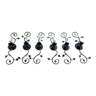 French Ironware Sconces - Set of 6