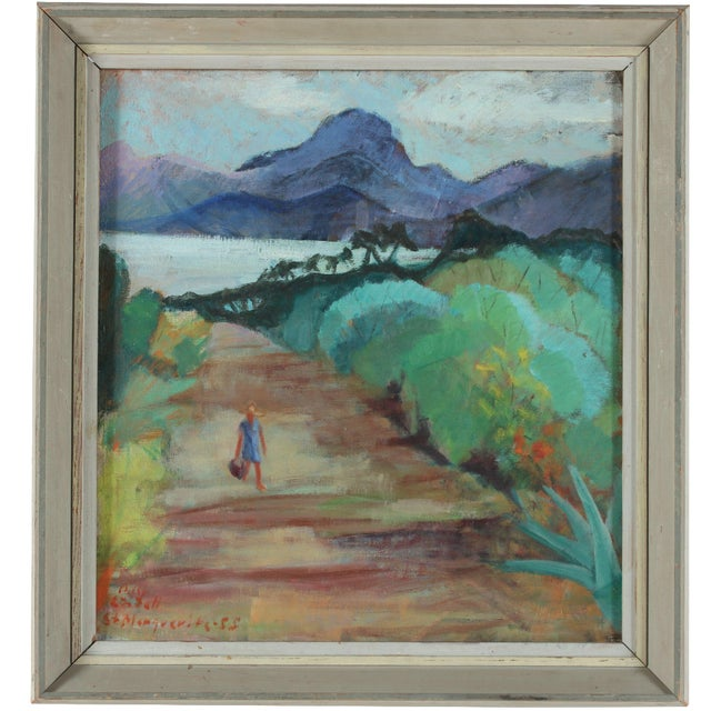 Beach Road Landscape Original Oil Painting - Image 1 of 3