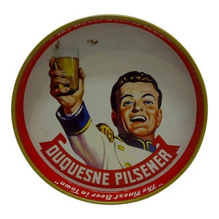 Vintage Duquesne Pilsener Beer Tray, 1950