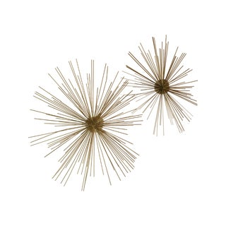 Metal Starburst Wall Sculpture - Pair