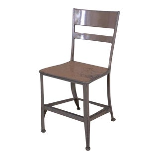 Vintage Industrial Rustic Toledo Metal Dining Cafe Side Chairs