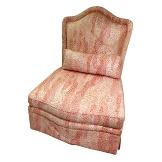 Vintage Pink Baker Slipper Chair