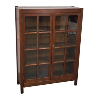 Antique Mission Oak Bookcase