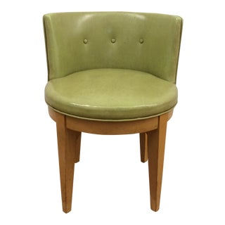Green Vinyl Swivel Club Chair