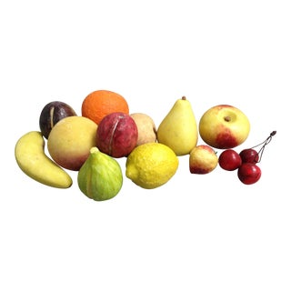 Hand Painted Marble Fruit - Set of 12