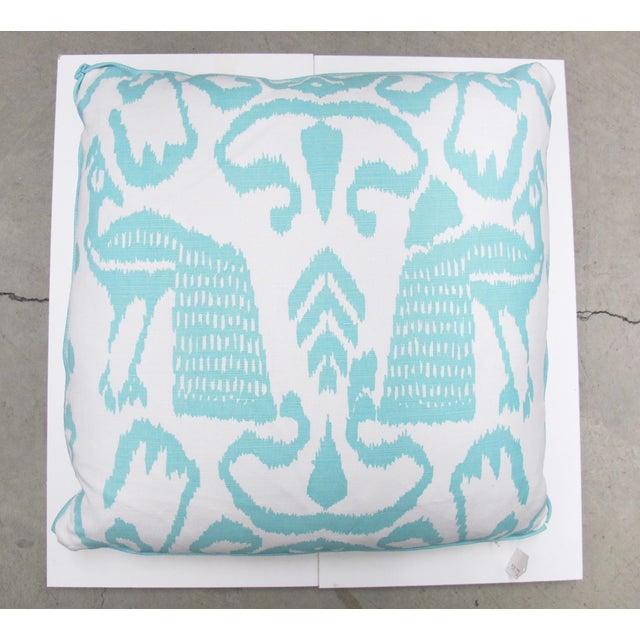 Aqua Bali Isle Linen Pillows- a Pair - Image 7 of 7