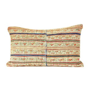 Vintage Hmong Embroidered Custom Pillow