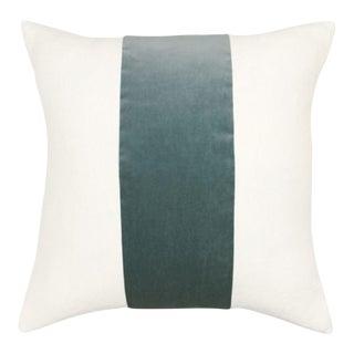 Custom Made Designer Linen & Velvet Feather Pillow