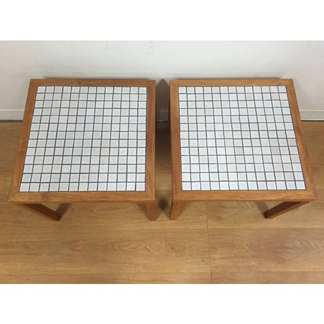 MCM Teak & Tile End Tables - A Pair - Image 3 of 7