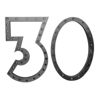 Vintage '30' Marquee Wall Lights