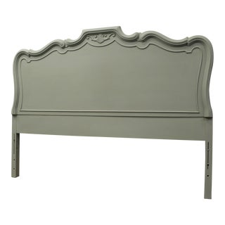 French Country  Carved Full Headboard in Sage