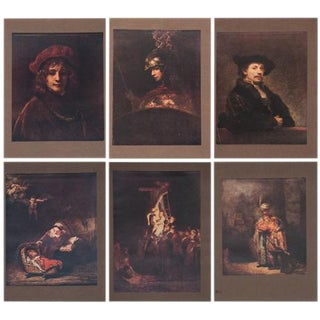 M.Menpes Rembrandt Lithographs- Set of 6