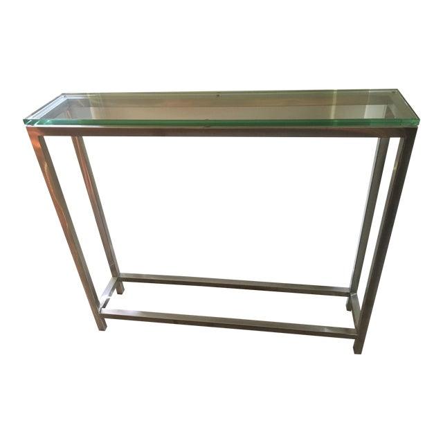 Crate And Barrel Era Glass Console Table Chairish