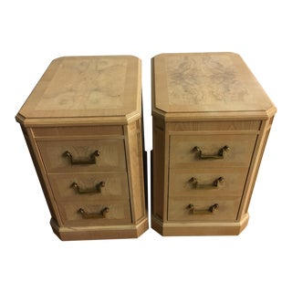 Heritage Burl Side Chests - A Pair