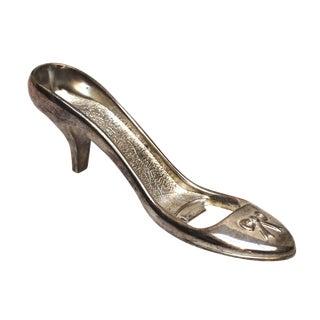 Silver Plate High Heel Shoe Bottle Opener