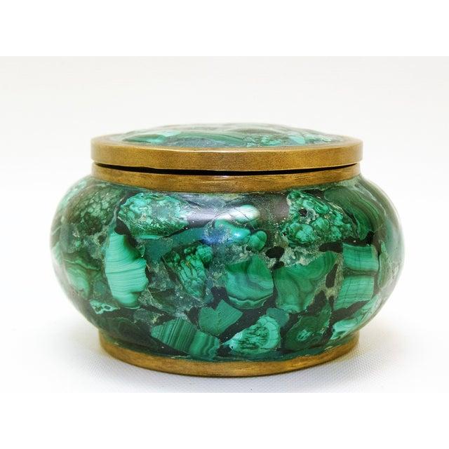 Round Malachite Lidded Box - Image 4 of 8