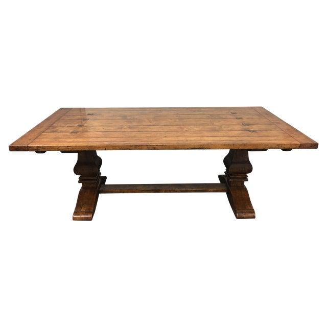Guy Chaddock Little Hampton Pedestal Trestle Table - Image 1 of 11