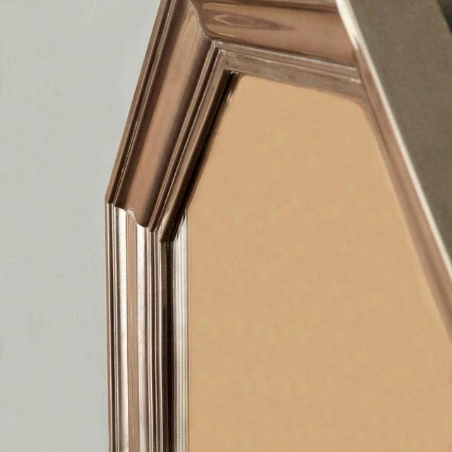 French Art Deco Metallic Octagonal Mirror - Image 3 of 7
