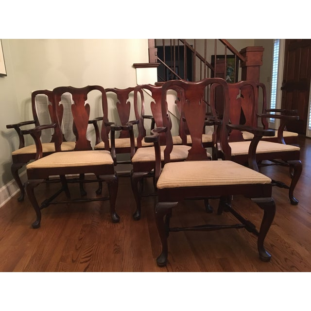 Fiddle Back Dining Chairs - Set of 8 - Image 8 of 10