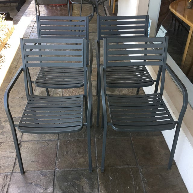 Emu Segno Stackable Outdoor Dining Chairs - Set of 4 - Image 2 of 8