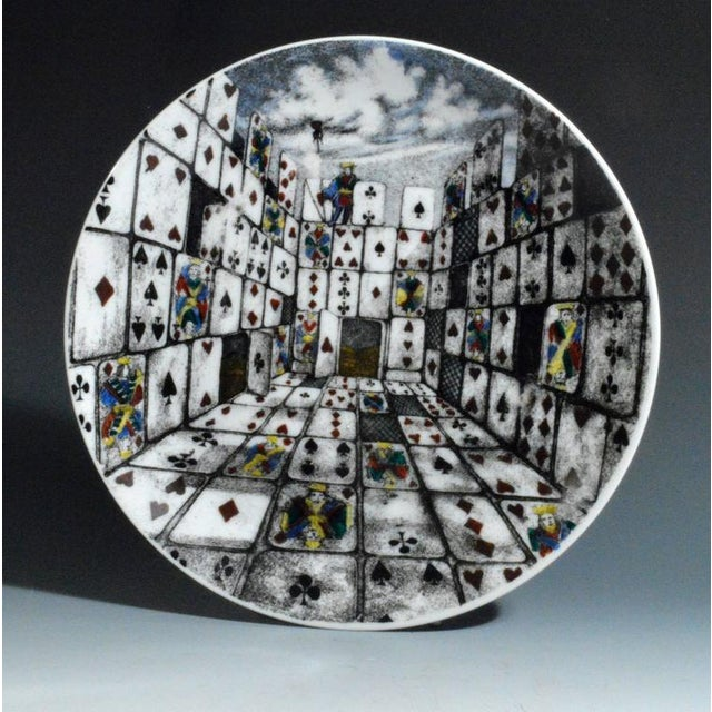 Piero Fornasetti Citta DI Carte City of Cards Plates in Complete Set of Twelve - Image 6 of 10