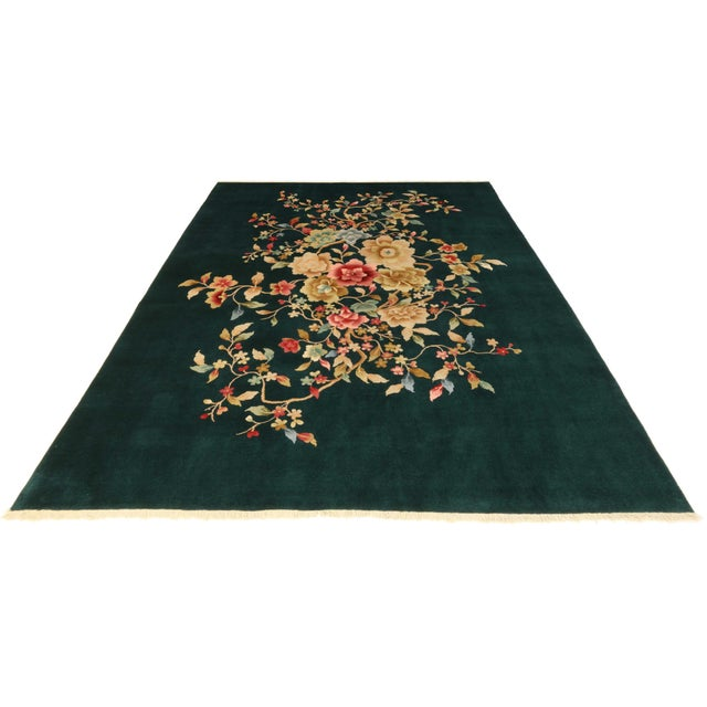 """Vintage Art Deco Chinese Rug - 7'10"""" X 9'8"""" - Image 2 of 2"""