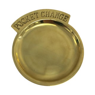 Vintage Round Pocket Change Dish