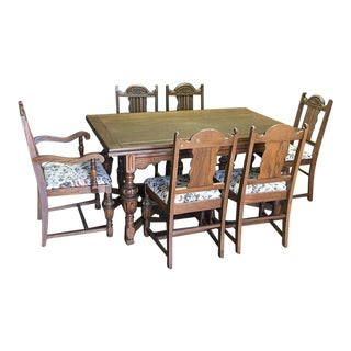 Extension Dining Table & 6 Chairs- Set of 7