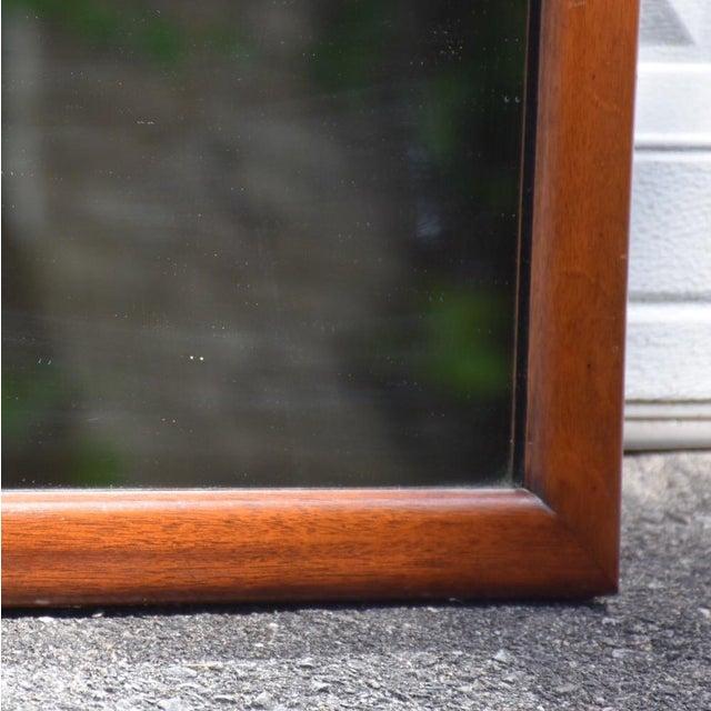 Mid-Century Mahogany Mirror - Image 4 of 5