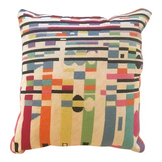 Vintage Modern Art Needlepoint Pillow