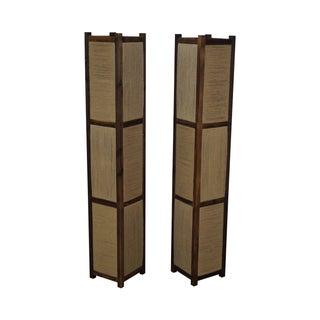Asian Arts & Crafts Kojima Style Floor Lamp - Pair