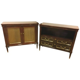 Hollywood Regency Bedside Cabinets - A Pair
