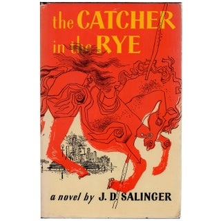 "1950s ""The Catcher in the Rye"" Hardcover Book by J. D. Salinger"