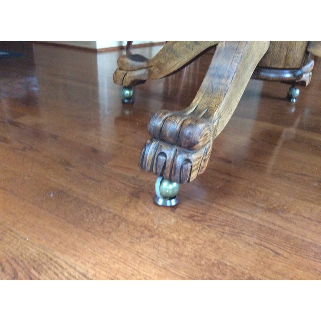 Antique Claw Foot Dining Table & 4 Chairs - Image 8 of 11