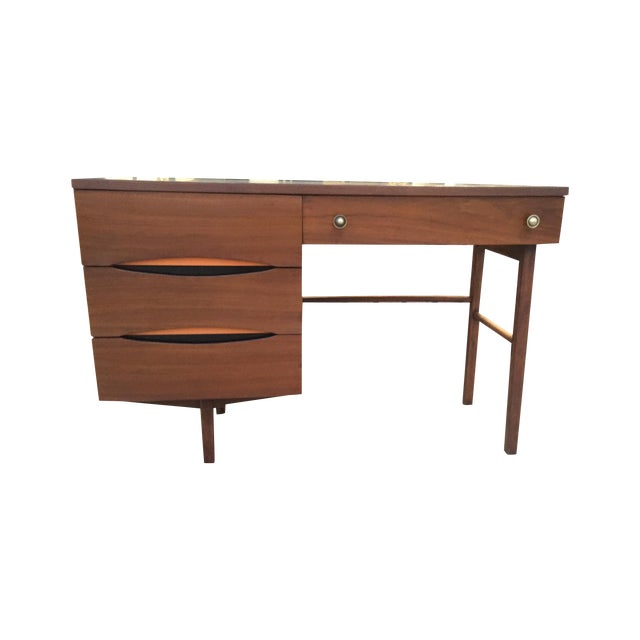 Mid Century Desk With Minimal Color Detailing - Image 1 of 7
