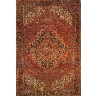 "Persian Heriz Family Hand-Knotted - 11'4"" X 17'5"""