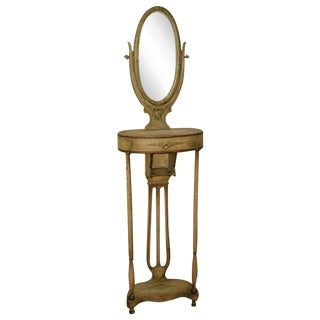 18th C. Handmade & Painted French Vanity & Mirror