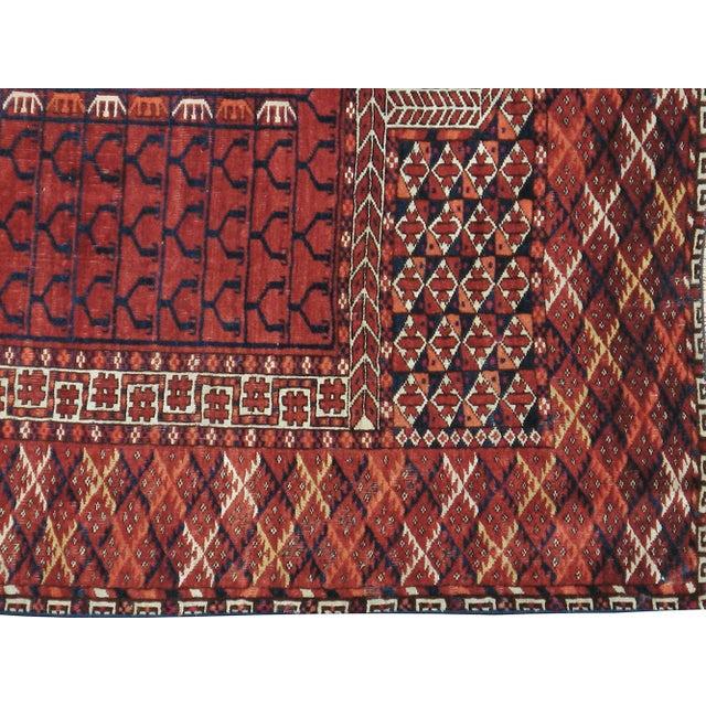 Vintage Turkoman Tekke Rug- 3′9″ × 4′9″ - Image 3 of 3