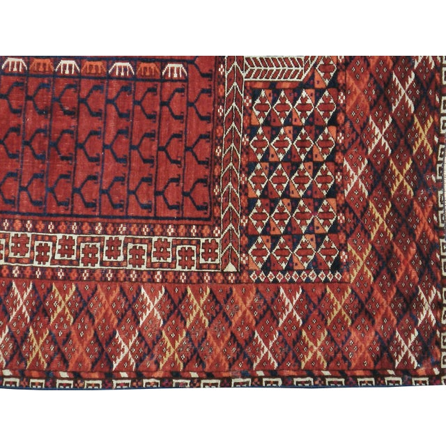 Image of Vintage Turkoman Tekke Rug- 3′9″ × 4′9″
