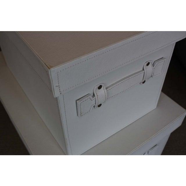 White Stacking Storage Boxes - Image 4 of 4