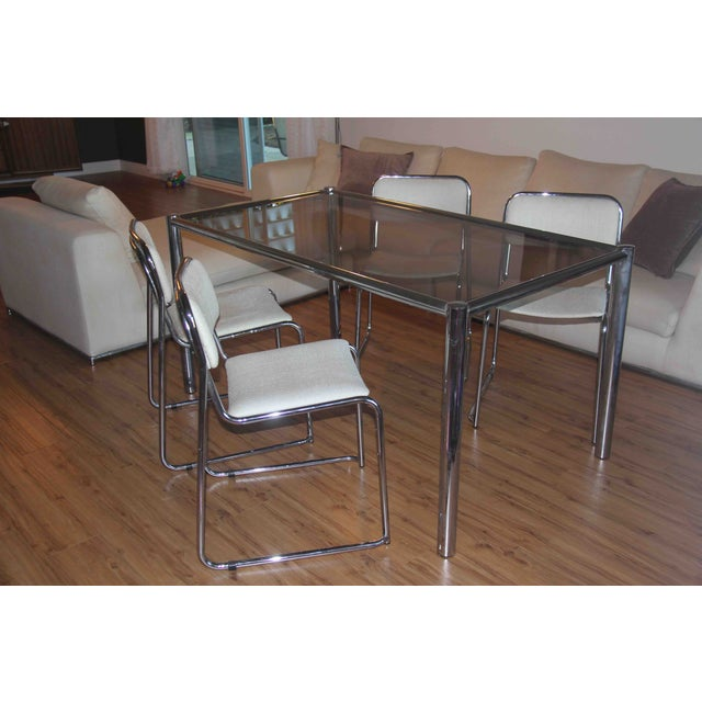 Milo Baughman Dining Set with Breuer Style Chairs - Image 3 of 9