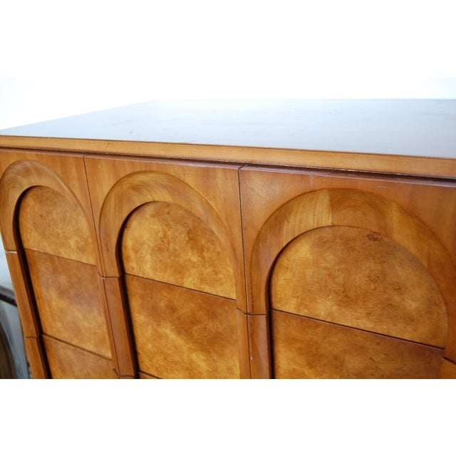 Mid Century Thomasville Sculptural Highboy Dresser - Image 8 of 11